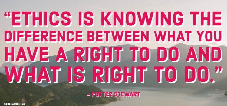 Compliance versus ethics