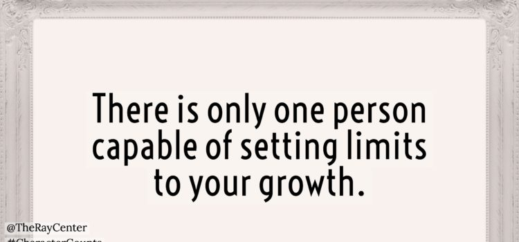 Who sets limits to your growth?