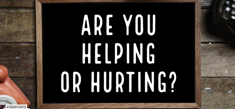 Does helping hurt?