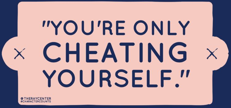 """You're only cheating yourself"""