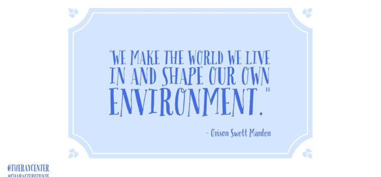 Shape our own environment