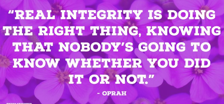 Real integrity