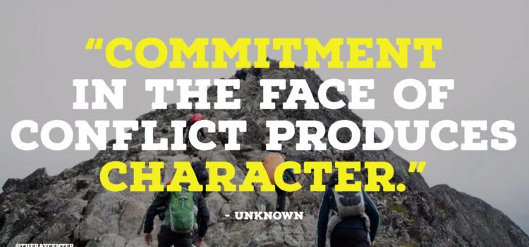 Commitment produces character