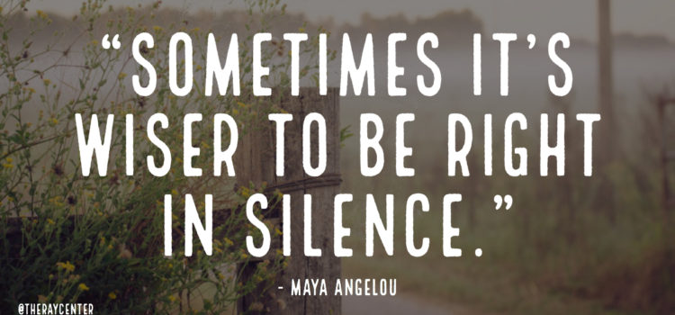 Be right in silence