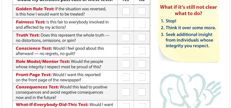 Integrity-In-Action Checklist