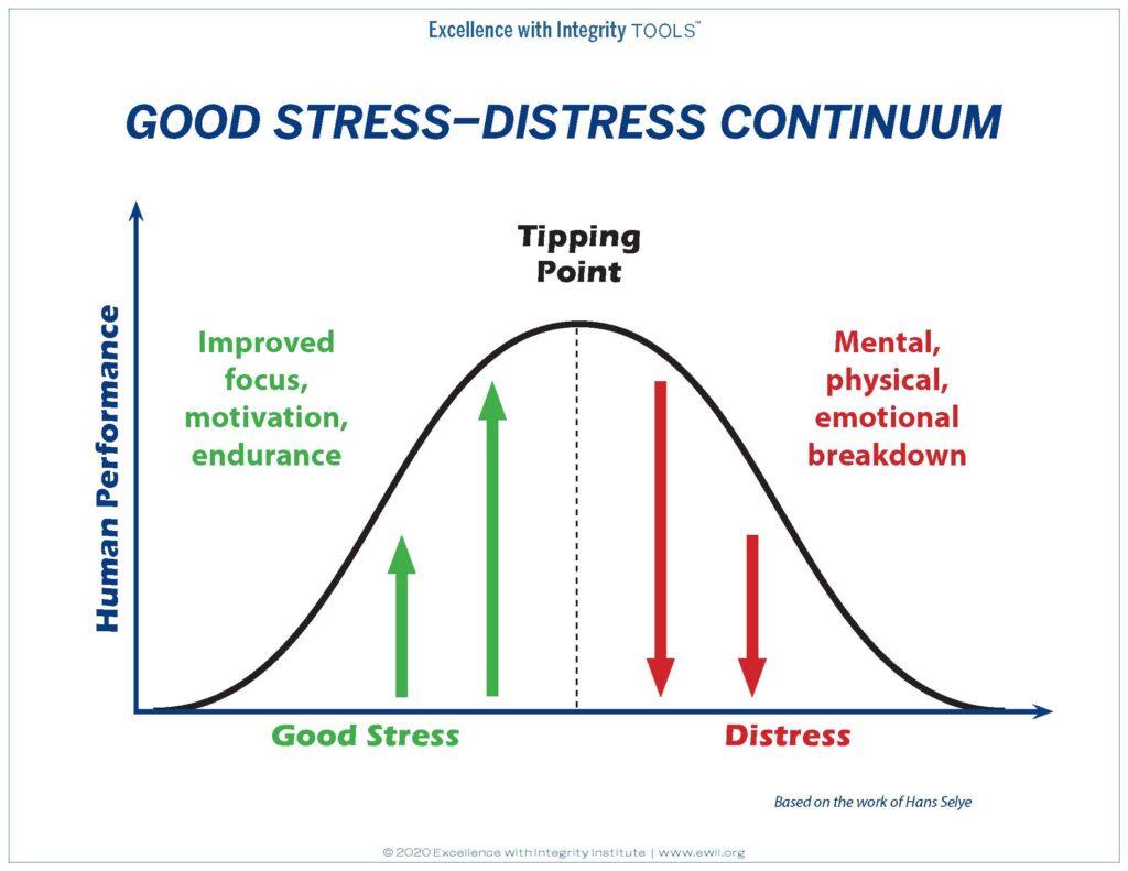 Good Stress Distress Continuum
